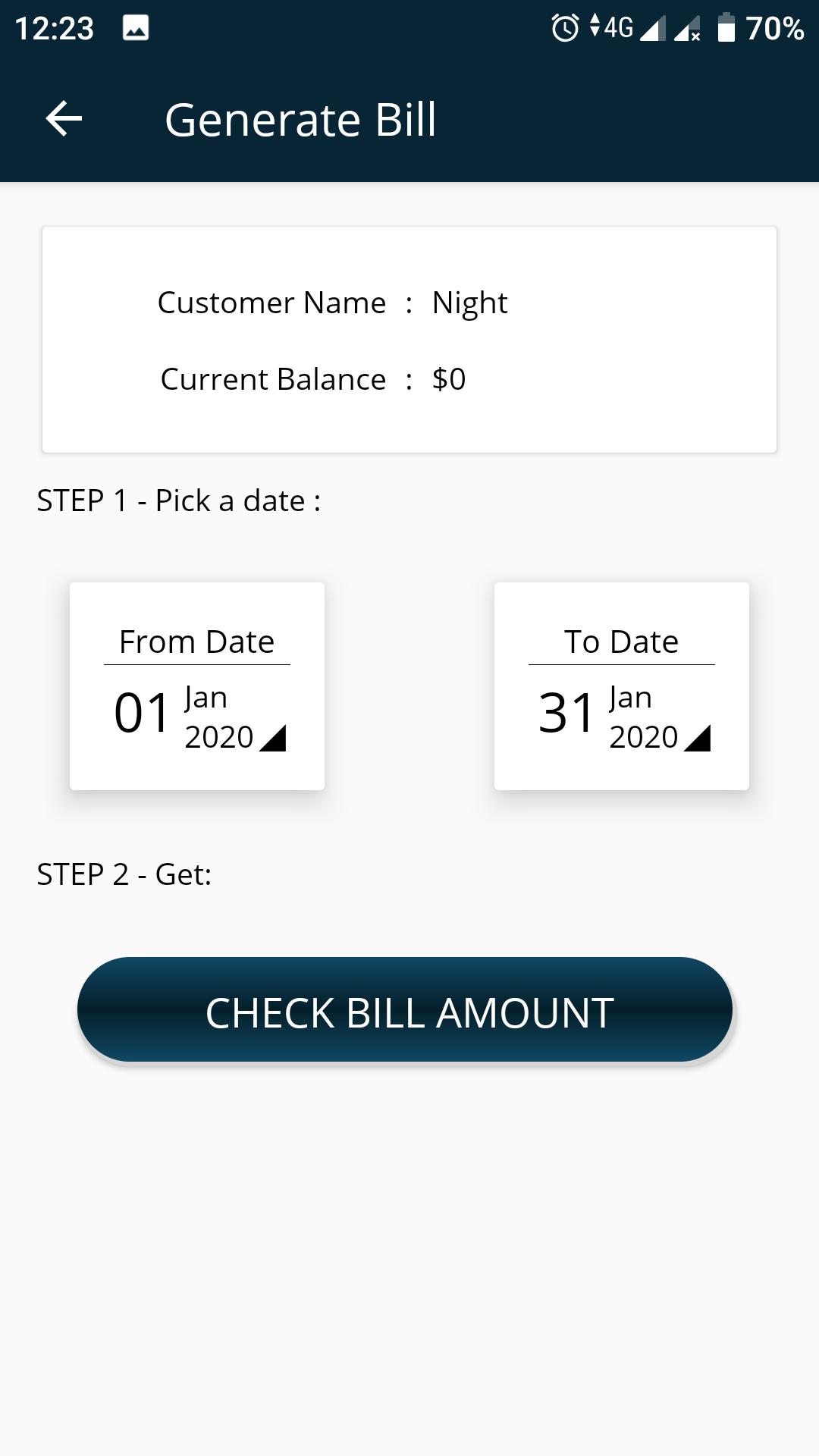 Generate Bill